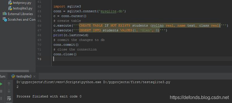 插入新行到 sqlite3 表并检查该插入是否成功
