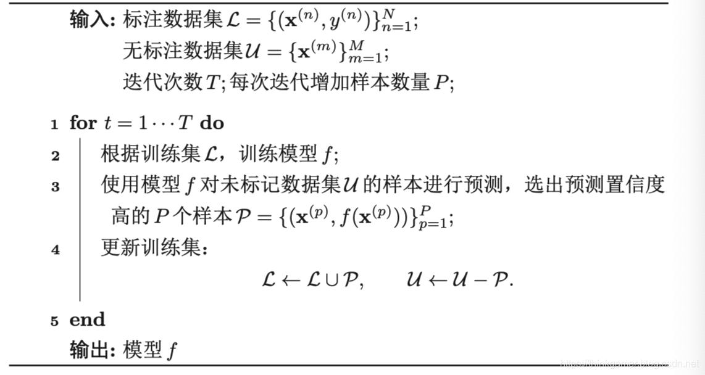自训练算法过程