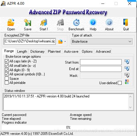 advanced zip password recovery 破解 版