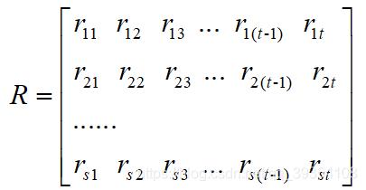 关联度的矩阵形式