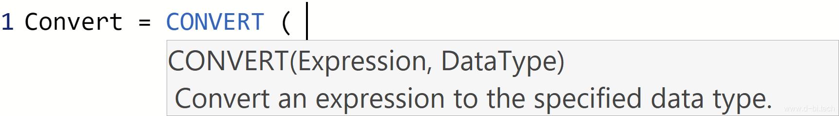 DAX CONVERT function