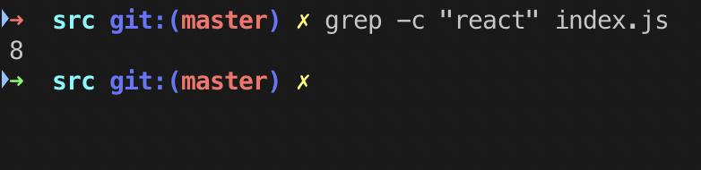 grep -c