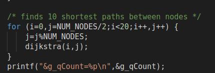 在主函数中打印出g_qcount地址