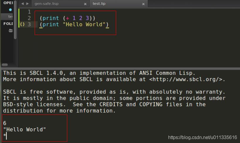 Sublime中构建Lisp程序
