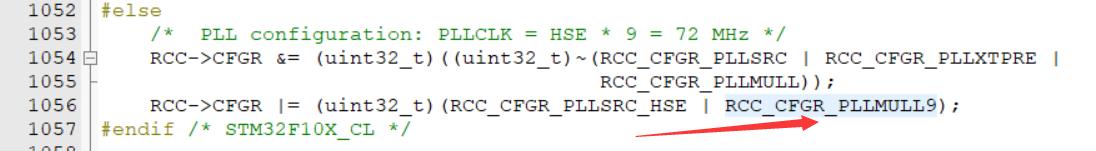修改system_stmf10x.c