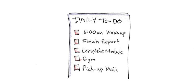 在前一天制定计划