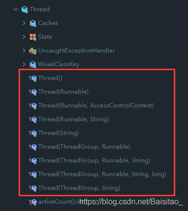 Thread类构造方法