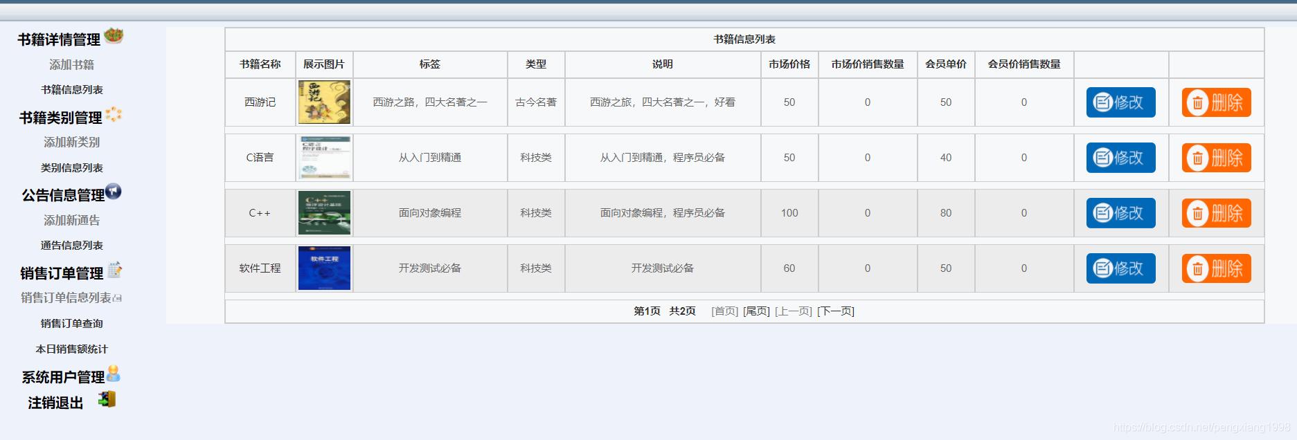 后台管理系统界面