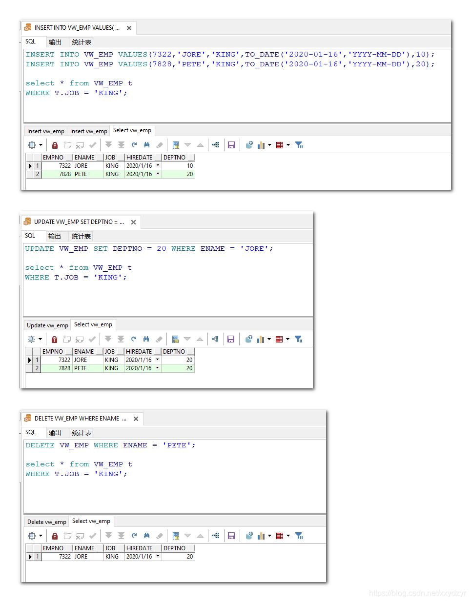 [外链图片转存失败,源站可能有防盗链机制,建议将图片保存下来直接上传(img-kmv81AzZ-1579160900010)(D:\学习资料\个人总结文件\保存图片\视图\06简单视图DML操作.png)]