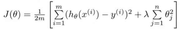 修改后的代价函数