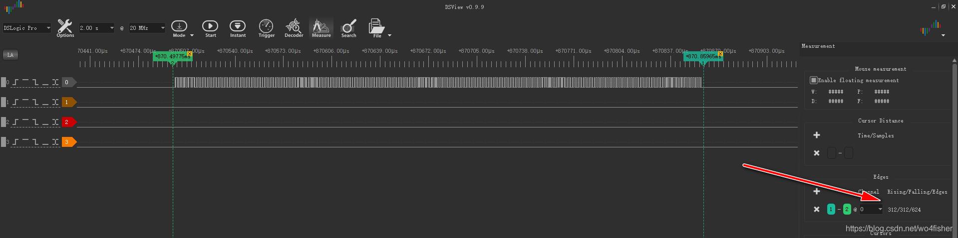 一次PWM波形的测量结果