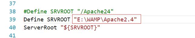 修改httpd.conf文件