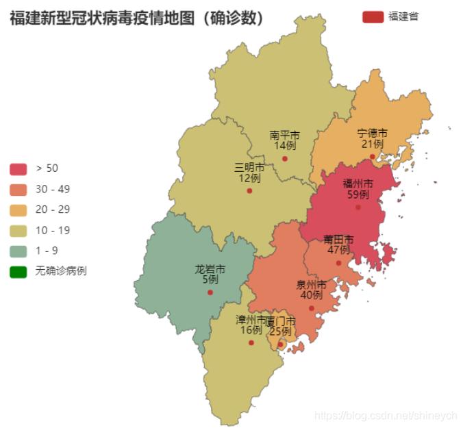 福建省疫情地图
