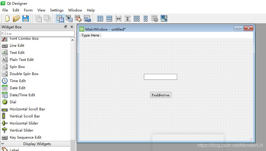 python使用qtdesigner,pyqt5设计winform窗体实现信号图片