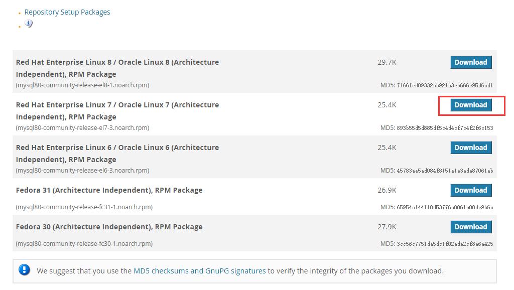 Centos7安装和配置MySQL5.7