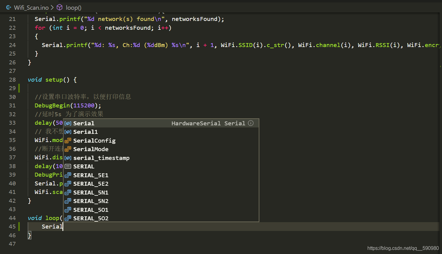 VScode中的界面