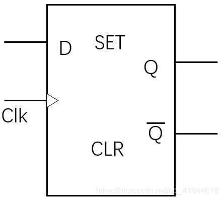 D触发器逻辑符号