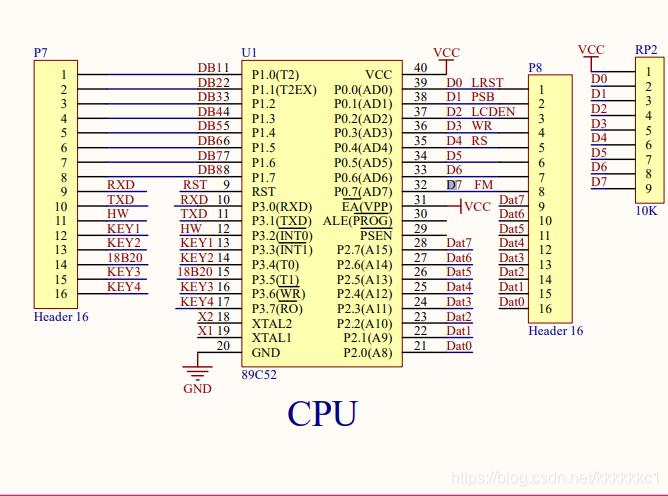 与之配套的CPU原理图