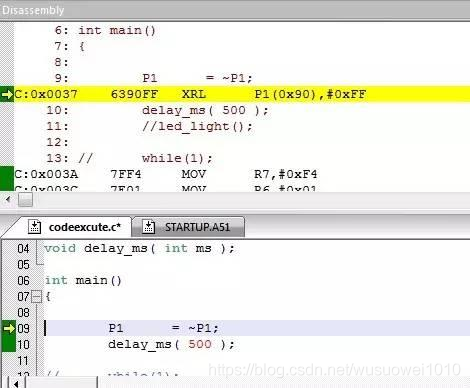 51单片机程序执行流程详细分析