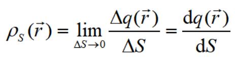 电荷面密度