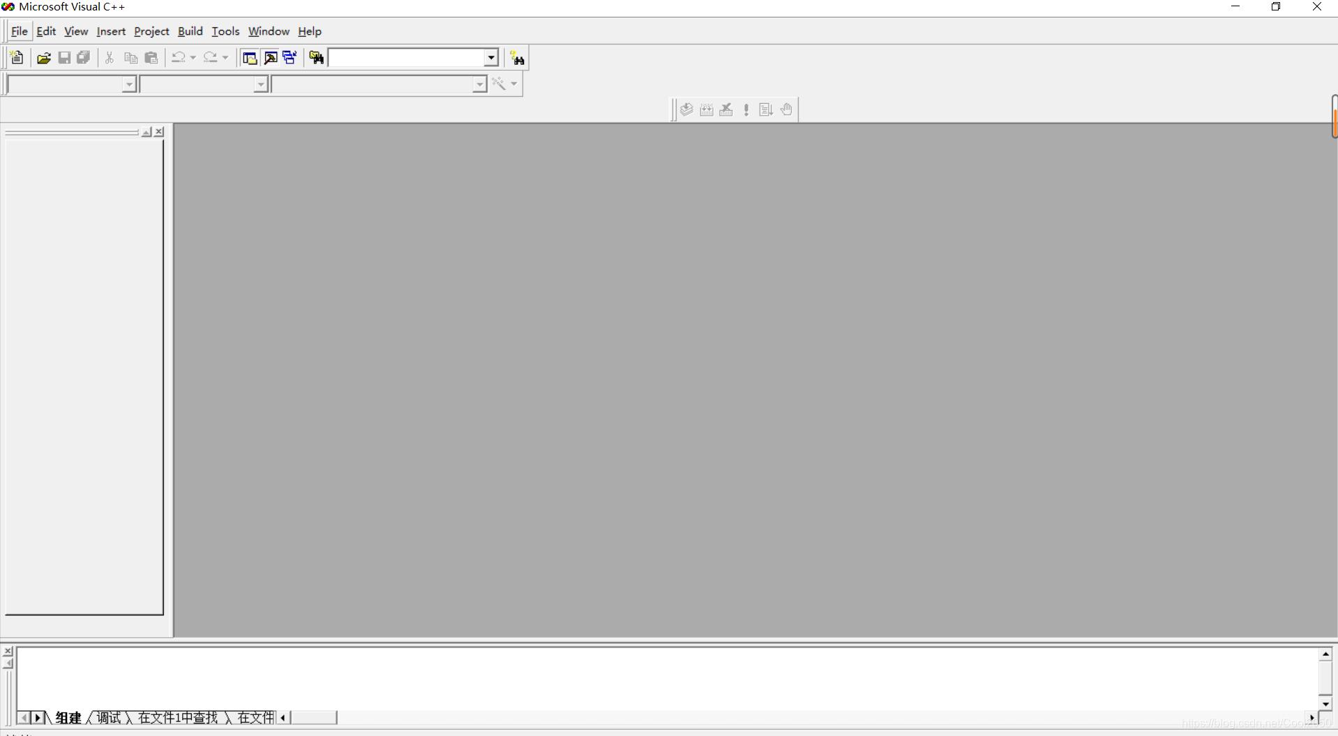 Visual c++ 6.0初始界面