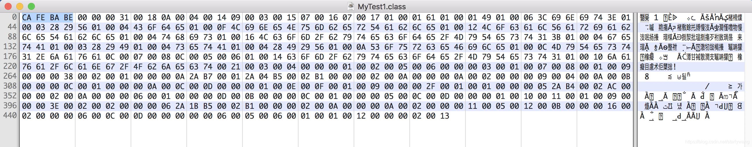 真实二进制字节码
