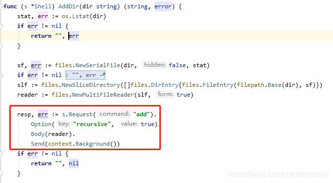 Add方法中的-r,在这里表示recursive