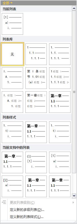 多级列表样式