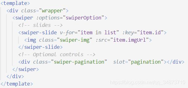 Swiper.vue中对轮播图的定义