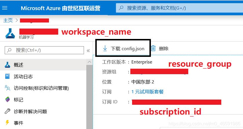 图4 portal上下载工作区配置文件