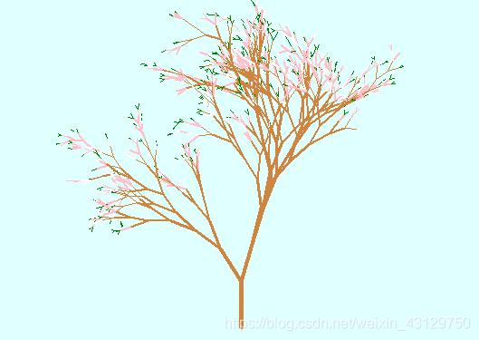 树干和花瓣