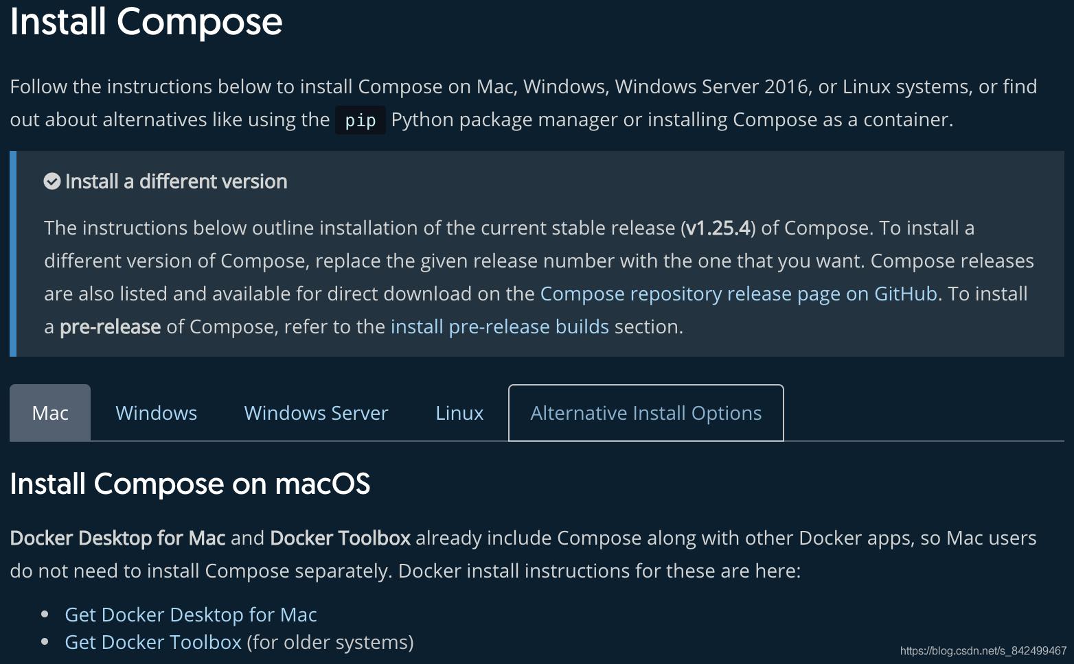 [外链图片转存失败,源站可能有防盗链机制,建议将图片保存下来直接上传(img-dXpZeoKL-1584940934811)(./images/docker-compose-install.png)]