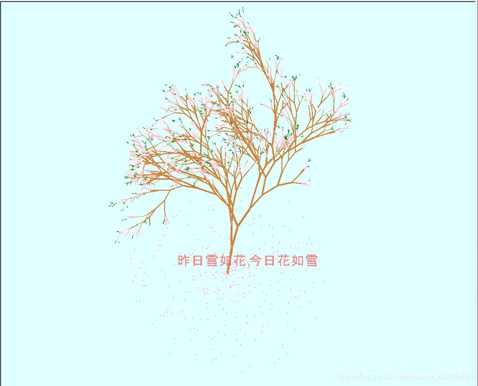 完美的樱花树