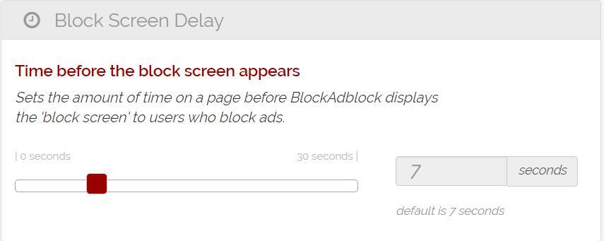 Block Screen Delay