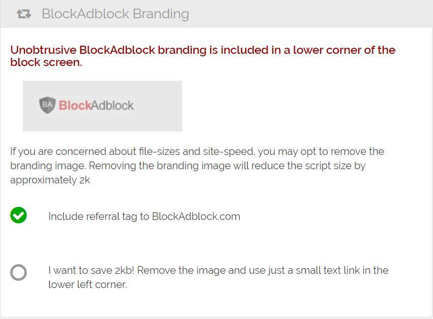 BlockAdblock Branding