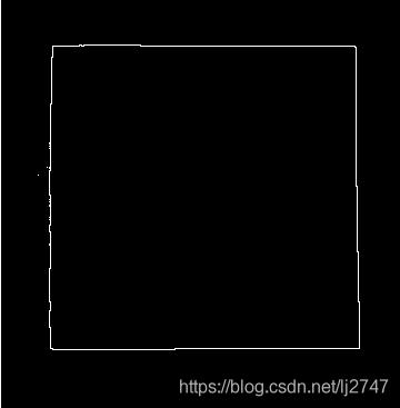 已用形态学提取方法提取的边缘轮廓,现在相求的矩形边缘的长度和宽度,或者求出四个角的坐标,请大神指点