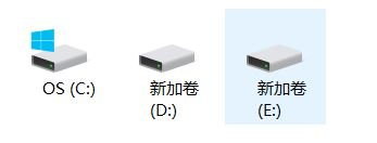 固态分为了C和D盘,E盘是后来加的机械盘