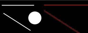 霍夫直线检测结果