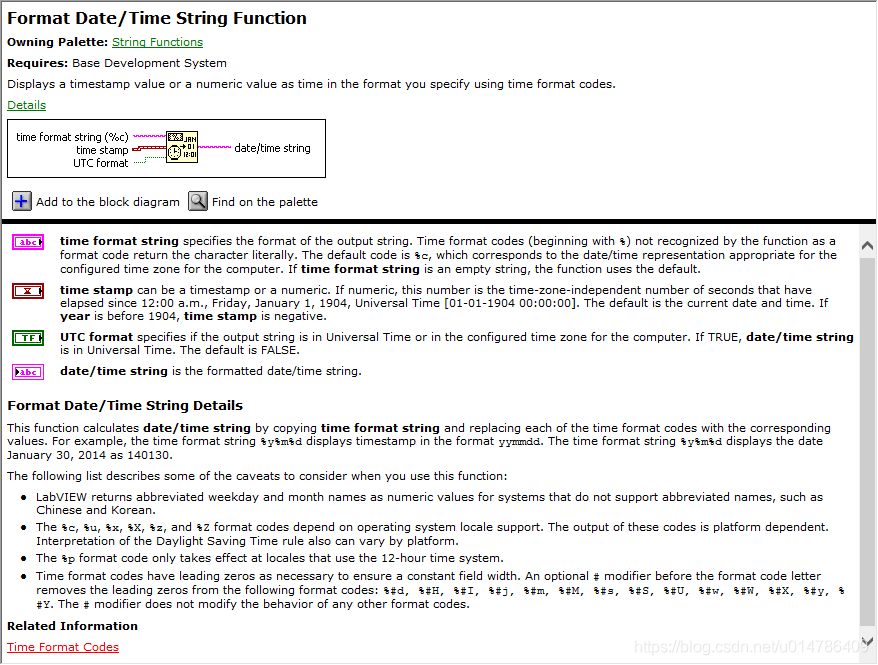 Format Data/Time String Function
