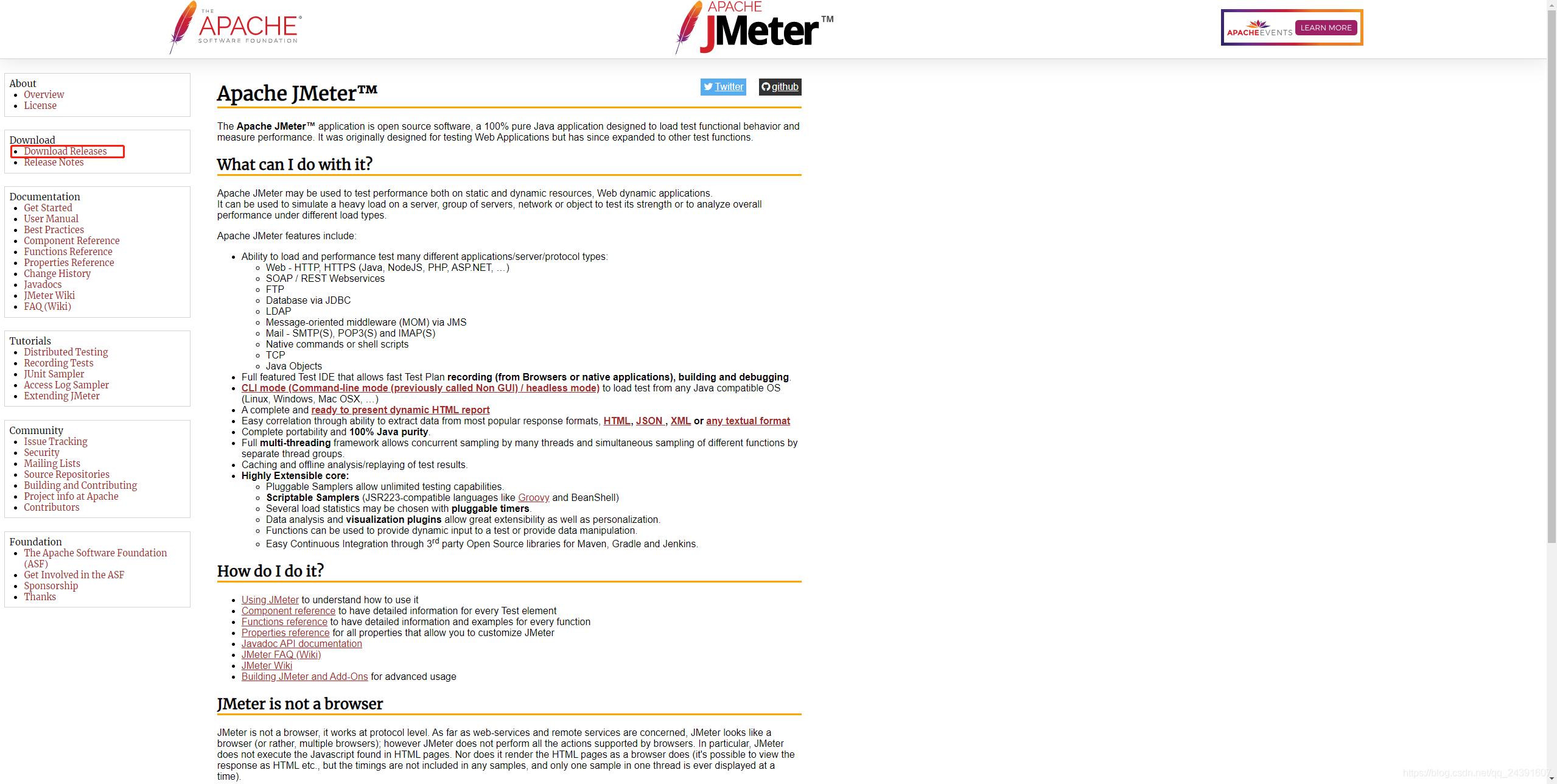 JMeter官网