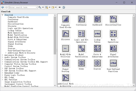 Simulink Library Browser窗口