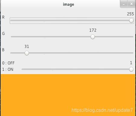 OpenCV中的 Gui特性-用滑动条做调色板