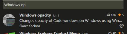 Windows opacity