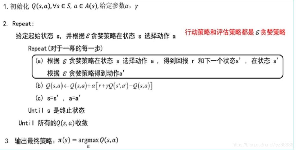 (3)Sarsa算法