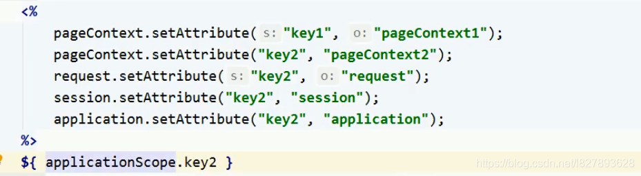 pageScope   pageContextrequestScope Request域sessionScopeSession域applicationScope  ServletContext域
