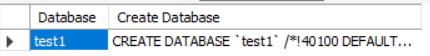 显示创建数据库