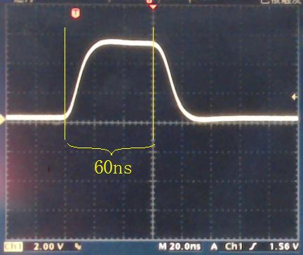 ▲ 增加NOP指令之后的P3.2管脚信号