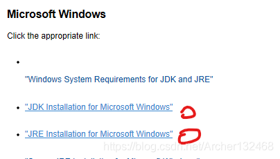 选择Windows JDK 和 JRE