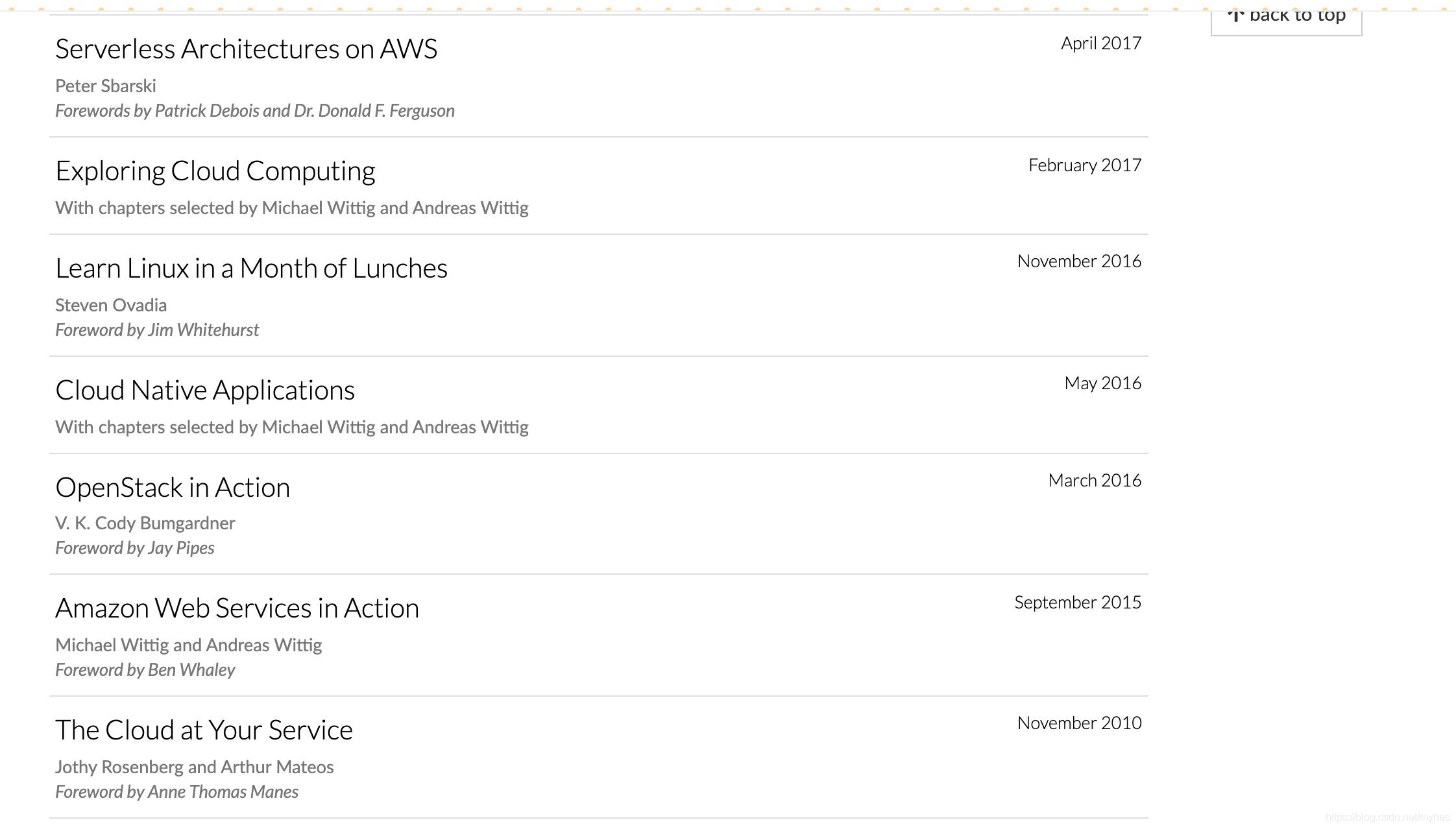 manning书籍类目和正版书籍清单
