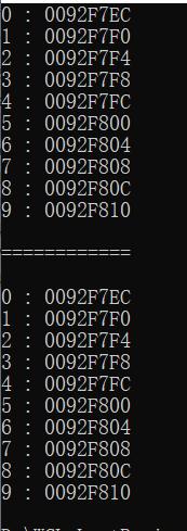 数组的下标取地址和偏移量取地址